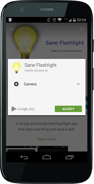 Sane Flashlight- screenshot