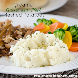 Creamy Garlic and Herb Mashed Potaotes.