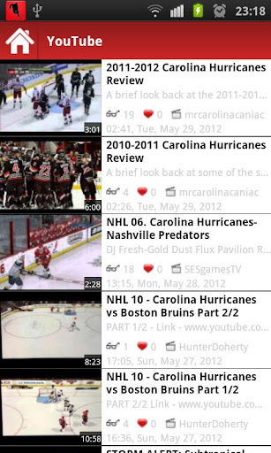 Description: Carolina Hurricanes Hockey App