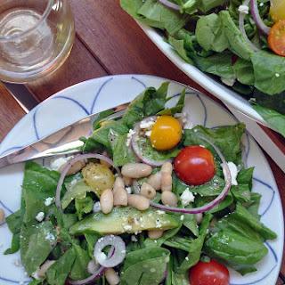 Spinach White Bean Salad with Meyer Lemon Vinaigrette