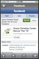 Screenshot of Grace Christian Center