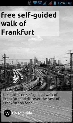 self-guided walk of Frankfurt