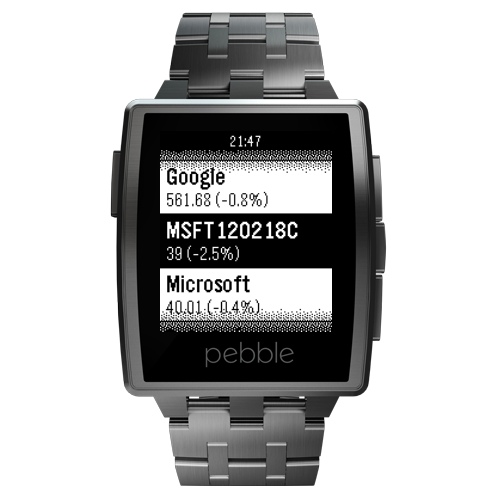 InvestControl for Pebble