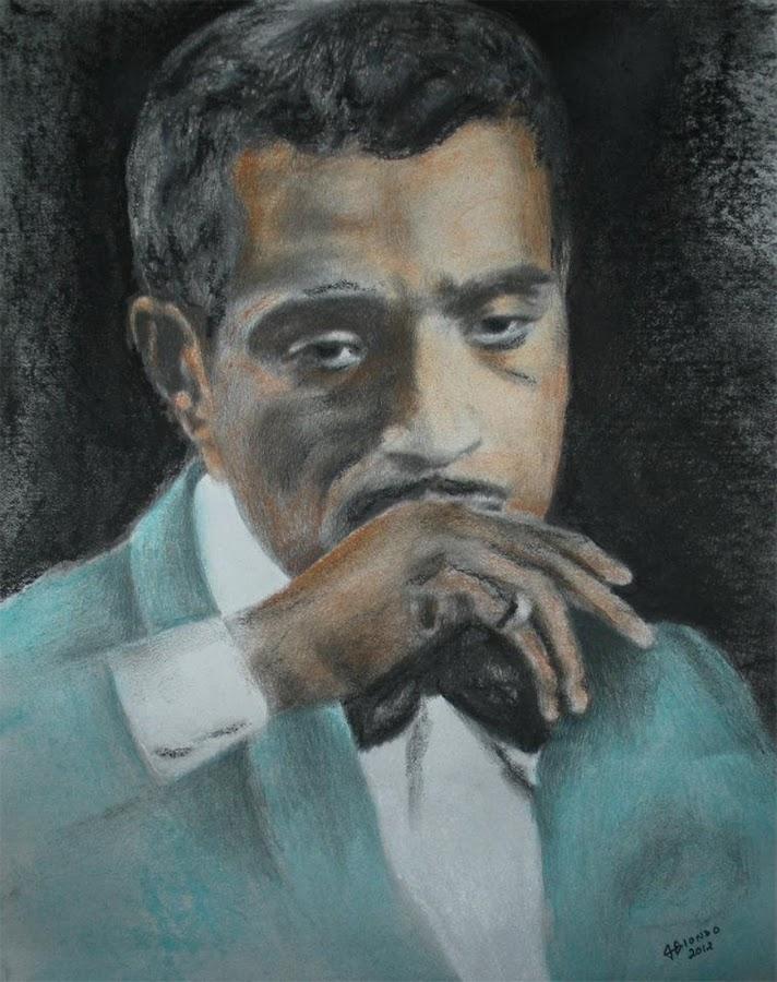 Sammy Davis Jr. by John Biondo - Drawing All Drawing ( pastel, sammy davis jr, famous people, portraits, drawing, portrait )