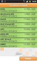 Screenshot of iCsekk mobil fizetés