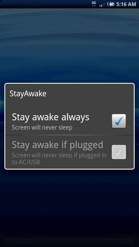 StayAwake- screenshot