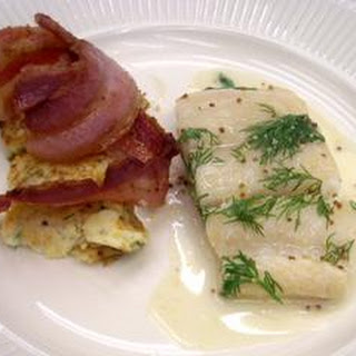 Haddock With Bacon Pancakes
