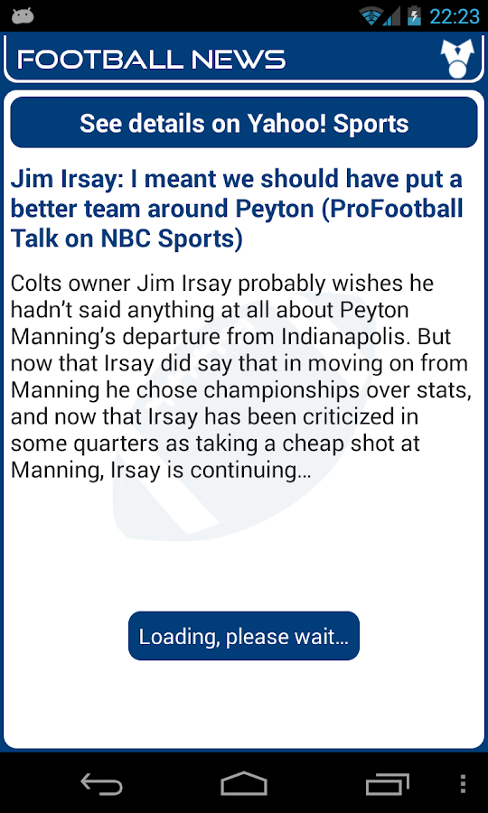 Indianapolis Football News - screenshot