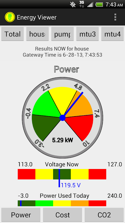 EnergyViewer for TED5000®- screenshot