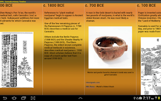 Screenshot of Cannabis Pocket Reference