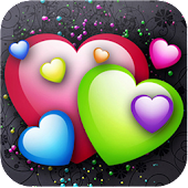 3D love heart wallpaper