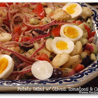 Potato Salad with Olives, Tomatoes and Capers