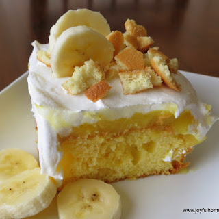 Banana Pudding Poke Cake.
