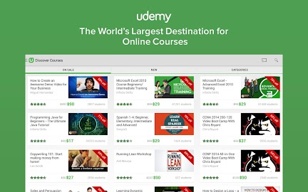 Udemy: Courses and Tutorials Screenshot 1