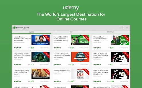 Udemy: Courses and Tutorials