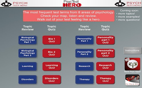 Psyc Test Hero Tablet- screenshot thumbnail