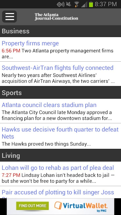 Breaking News from The AJC - screenshot