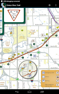 Clinton River Trail Map- screenshot thumbnail