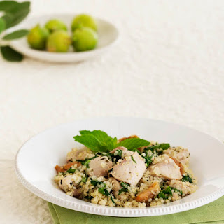 Chicken and Quinoa with Figs, Spinach and Mint.