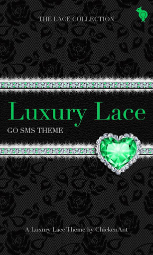 Green Luxury Lace Theme Go SMS