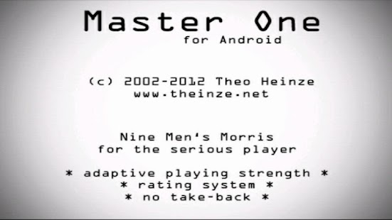 Master One Nine Men's Morris- screenshot thumbnail