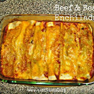 Beef & Bean Enchiladas