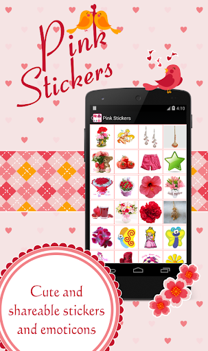 Pink Cute Stickers