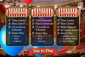 Screenshot of Hidden Objects Carnival Circus