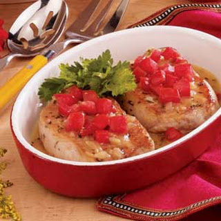 Pork Chops with Herbed Gravy.