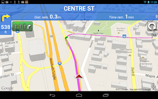 Screenshot of Truck GPS Route Navigation