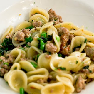 Orecchiette with Homemade Fennel Sausage and Swiss Chard