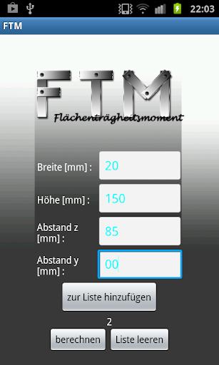 FTM - Flächenträgheitsmoment