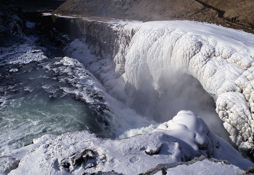 Gullfoss Waterfall in Iceland.