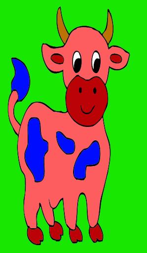 Coloring dog cartoon