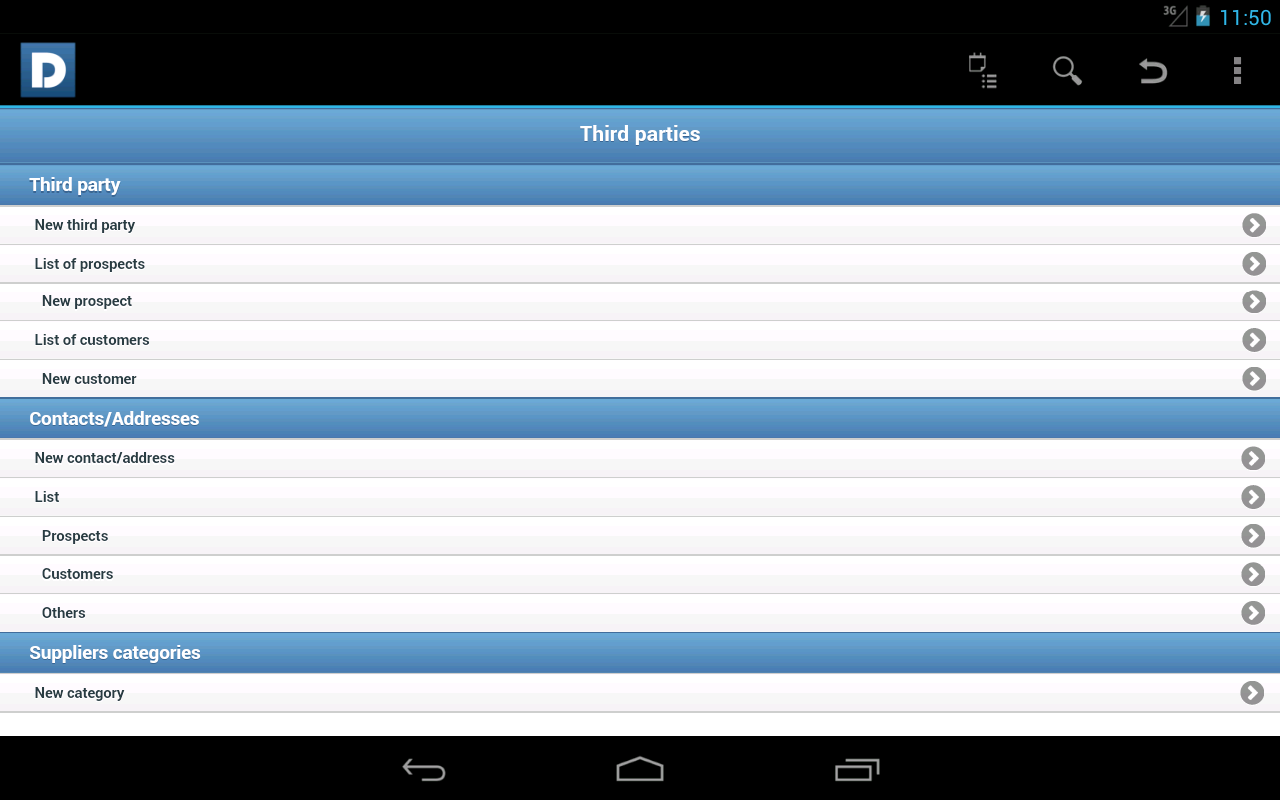 DoliDroid (Dolibarr ERP & CRM): screenshot