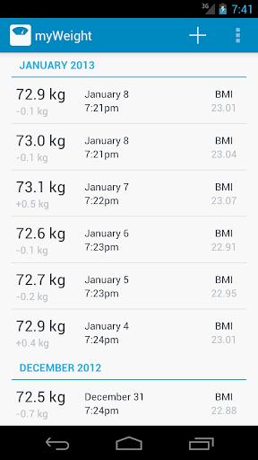 My Weight Tracker