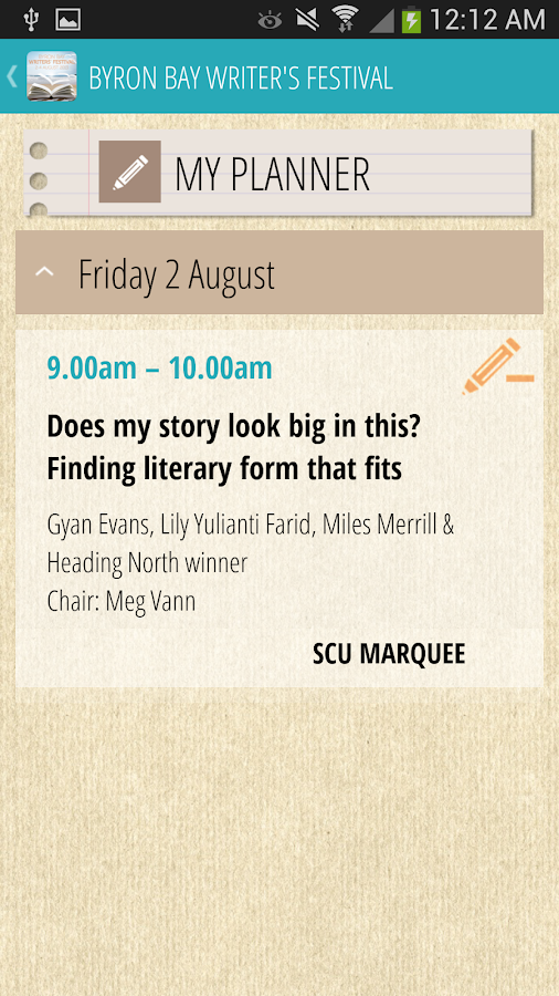 Byron Bay Writers Festival- screenshot