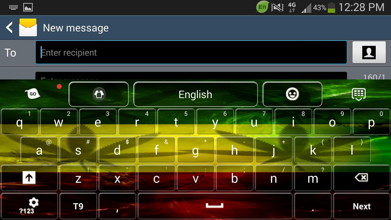 Google themes rasta - Rasta Keyboard Screenshot