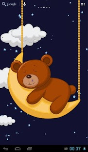 Sleeping teddy bear screenshot