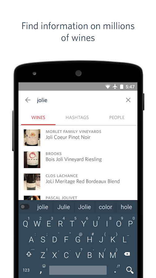 Delectable Wine - Scan & Rate - screenshot