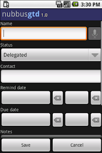 Nubbus GTD To Do List- screenshot thumbnail