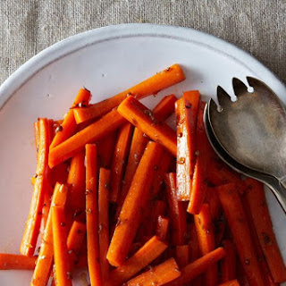 Buttery Maple and Cumin Carrots.