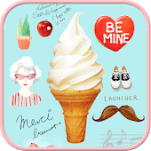 Icecream go launcher Theme