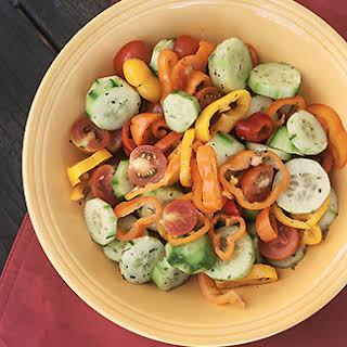 No Oil Greek Salad (0 Point Weight Watchers Recipe).