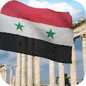 3d Syria Flag with Anthem LW logo