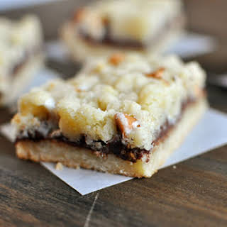 Nutella Butterscotch Crumble Bars.