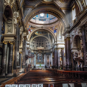 Brompton Oratory by Andrea Conti - Buildings & Architecture Places of Worship ( church of the immaculate heart of mary, interior, oratory, baroque, catholic, londra, london, church, brompton, chiesa, architecture, , Architecture, Ceilings, Ceiling, Buildings, Building )