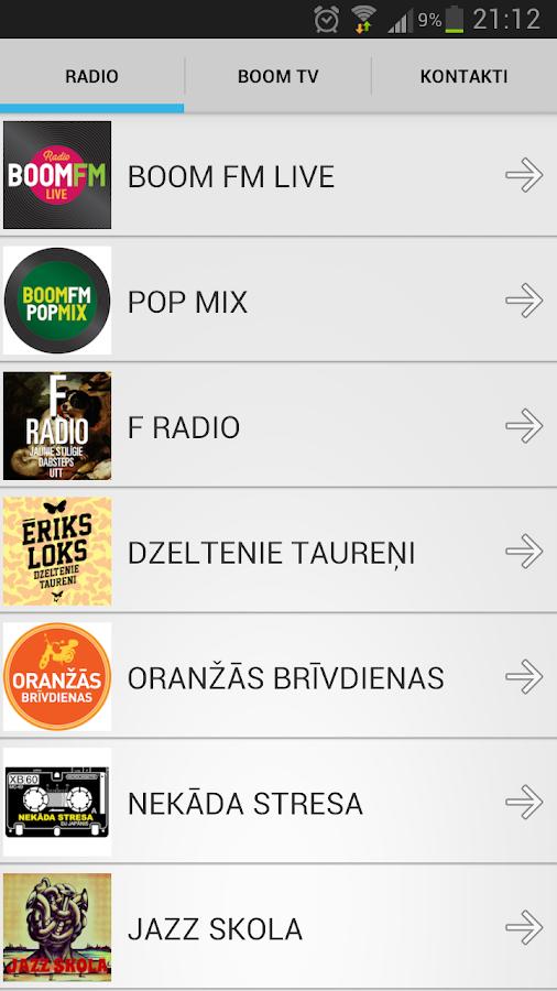 BOOM FM - screenshot