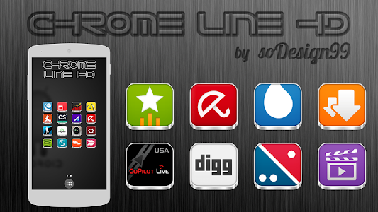 Chrome Line Pro - Icon Pack v1.7.5
