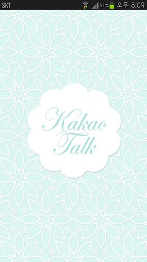 KakaoTalk主題,青藍色花蕾絲主題